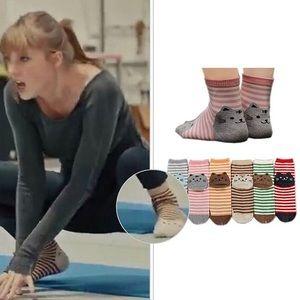NWOT Anvei-Nai cat socks (brown; ASO Taylor Swift)